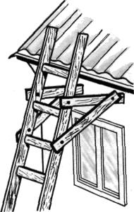 Сделать лестницу на крышу своими руками фото